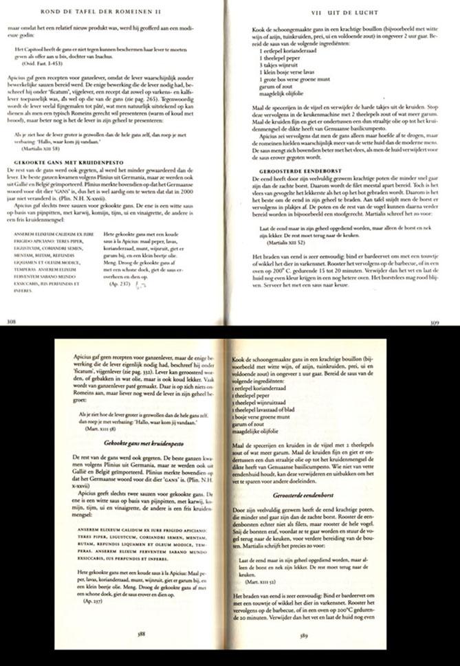 Lay-out van de edities 1994 (boven) en 2000 (onder) van hetzelfde recept